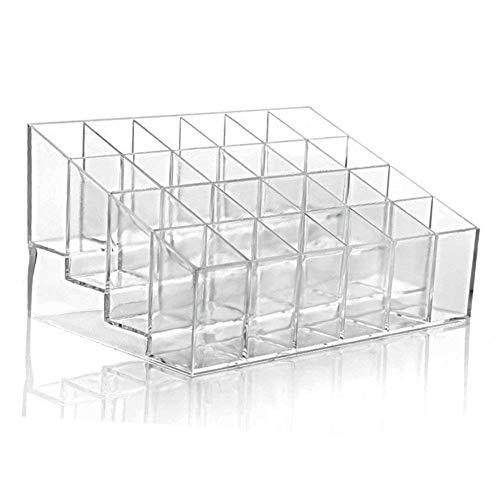 SuperglockT Lippenstifthalter 24 Plätze Transparent Acryl Kosmetik Box Make Up Organizer...