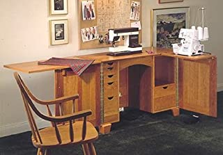 A Woodworking Plan and Instructions to Build a Sewing Center Cabinet