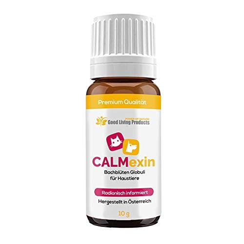 Good Living Products Calmexin - Beruhigungsmittel für Hunde | Bei Stress und Angst für Haustiere - Egal ob Katzen oder Hunde | Bachblüten Globuli radionisch informiert (1 Flasche)