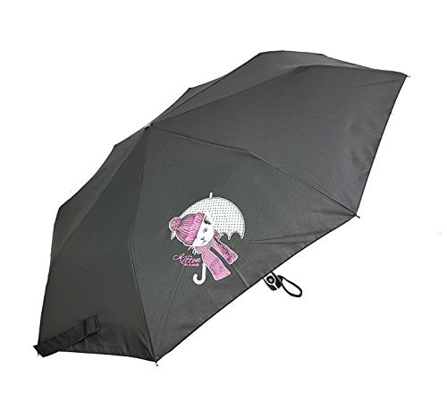 doppler Paraguas de bolsillo de fibra mágica con diseño de gatos hacia arriba y hacia abajo