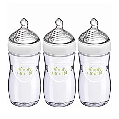 NUK Simply Natural Baby Bottles, 9 Oz, 3 Pack