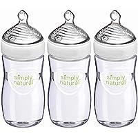 3-Pack NUK Simply Natural Baby Bottles, 9 Oz