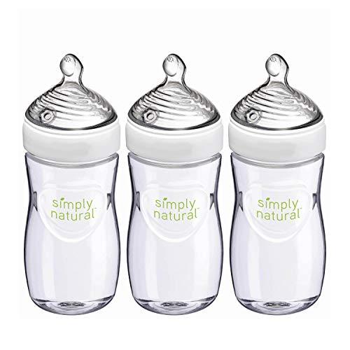 NUK Simply Natural Baby Bottles, 9 Oz, 3 Pack
