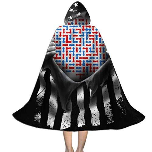 Capa para niños Capa con Capucha Mapa de América EE. UU. Separar Unisex Capa con Capucha Abrigo Capa de Bruja Capa Larga Capa de Fiesta de Cosplay de Halloween