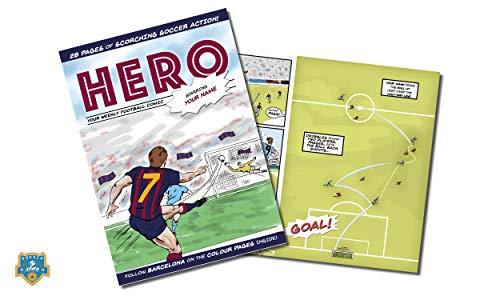 Libro de cómic Personalizado de fútbol de Soccer Star Idea para fanáticos del fútbol de Todas Las Edades, cumpleaños, Navidad, día del Padre, Barcelona