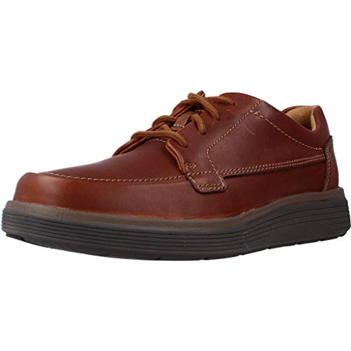 Clarks Un Abode Ease, Zapatos de Cordones Derby Hombre, Marrón (Dark Tan Leather), 44.5 EU