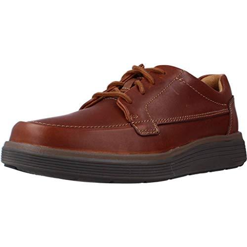 Clarks Un Abode Ease, Zapatos de Cordones Derby Hombre, Marrón (Dark Tan Leather), 48 EU