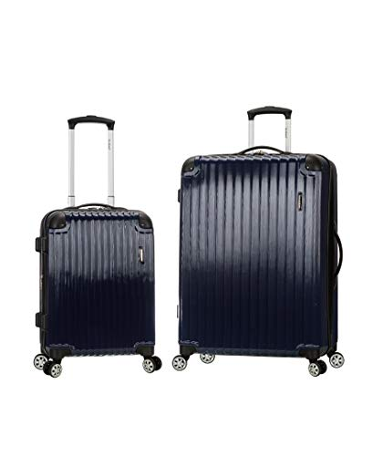 Rockland Santorini 20', 28' 2pc Expandable Polycarbonate Spinner Set, Navy, One Size