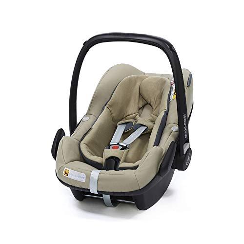 Maxi-Cosi Pebble Plus Autositz für Babys Gruppe 0+, ISOFIX-Kindersitz, i-Size, 0-12 m, 0-13 kg, 45-75 cm, Sand (beige)