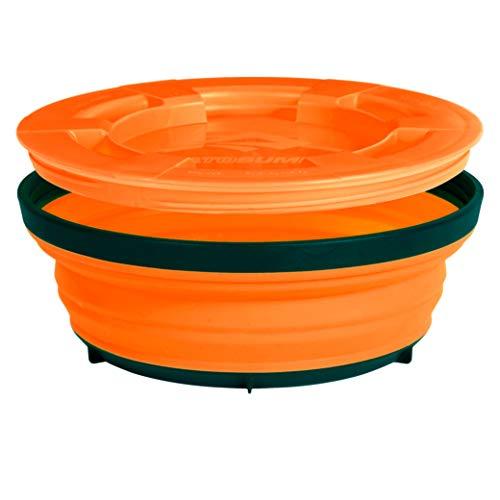 Sea to Summit X-Seal Go Pliable récipient Bol de Camping avec Couvercle hermétique Lave-Vaisselle, Mixte, Orange, 20oz