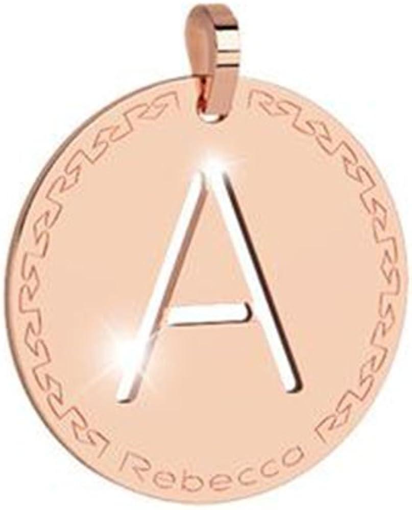 """Rebecca ciondolo con lettera """"a""""in bronzo, BWRPRA01"""