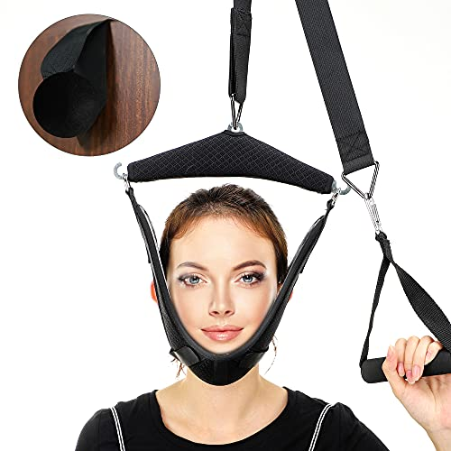 Protable Neck Stretcher Hammock,Neck Traction Hammock,Neck Cervical Traction Device for Neck Pain Relief and Relaxation,Neck Traction Device Over Door for Home Use