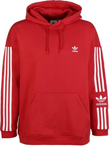 adidas Herren TECH Hoody Sweatshirt, Lush red, XS