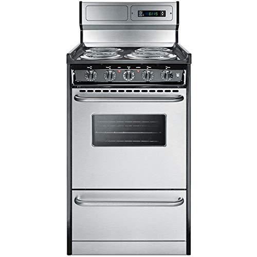 Summit Appliance TEM130BKWY Kitchen Cooking Range, Stainless Steel