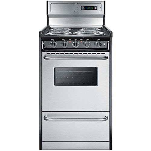 Summit Appliance TEM130BKWY Kitchen Cooking Range, Stainless Steel