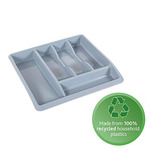 Addis Eco - Bandeja organizadora para cubiertos (plástico, 100% reciclado), color gris claro