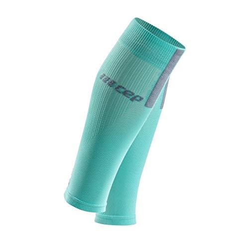 CEP – Calf Sleeves 3.0 für Damen | Beinstulpen für exakte Wadenkompression in hellblau/grau | Größe III