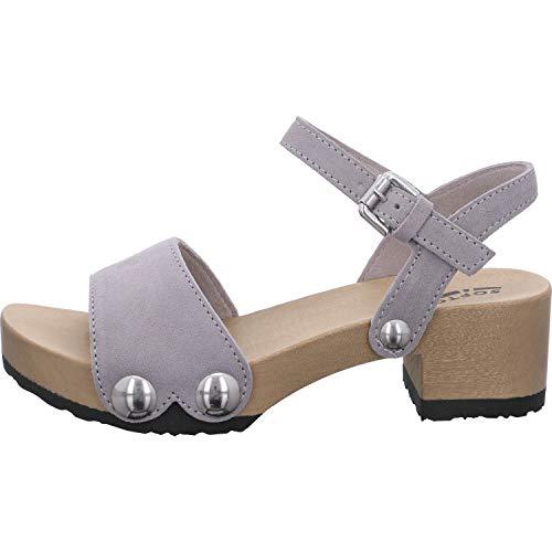 Softclox Damen Sandaletten S3378-37 grau 614004