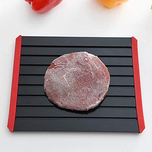 SBDLXY Schnellauftautablett, Auftauplatte Kühlschrank/mit Rutschfester Silikonhülle/Schneller sicherer Weg zum Auftauen von Fleisch Schweinefleisch Rindfleisch-6mmS