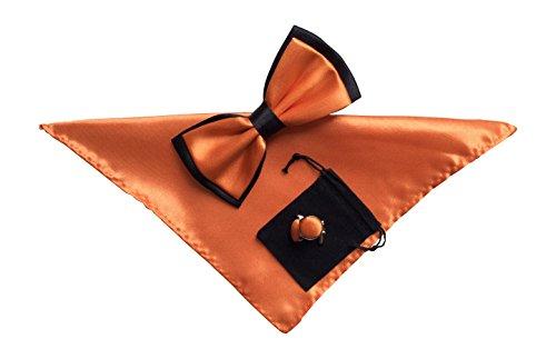 Boutons de manchette pour homme fly einstecktuch et no2 donné orange clair