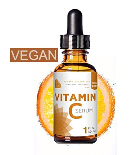 100% Vitamin C Serum, Vegan, Pure Vitamin C Serum | Hyaluron, Gesichtsreinigung | Anti Aging Serum | Reine Aloe Vera, MSM, Jojoba Oil, Vitamin E | Premium Qualität von Secret Essentials