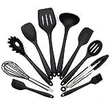 UFLYAY Silikon Küchenutensilien Küchenhelfer, 10+1 Stück Silikon Kochen Gadgets Utensilien - Hitzebeständig und Langlebig Küchenset