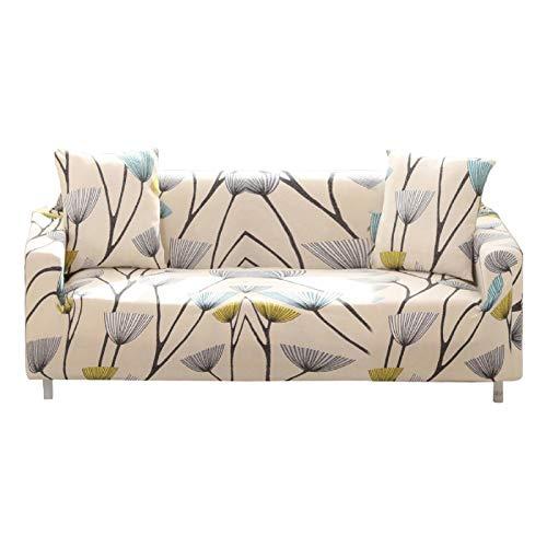 Bikuer - Funda de sofá Estampada elástica Repelente al Agua para sofá de 3 Cojines con una Funda de Almohada Gratis