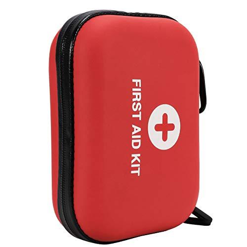 Fostoy Kit di Pronto Soccorso, Mini Kit di Pronto Soccorso da 120 Pezzi Forniture Pratiche, Kit di Pronto Soccorso Impermeabile e Portatile Kit Compatto