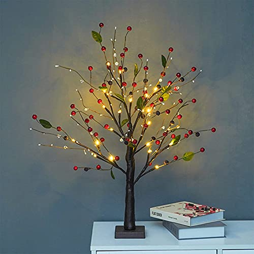 WXYI Lámparas de mesa de árbol Bonsái, decoración de rama flexible, funciona con pilas para cumpleaños, bodas, luces de hadas, dormitorio, lámpara de árbol bonsái, A