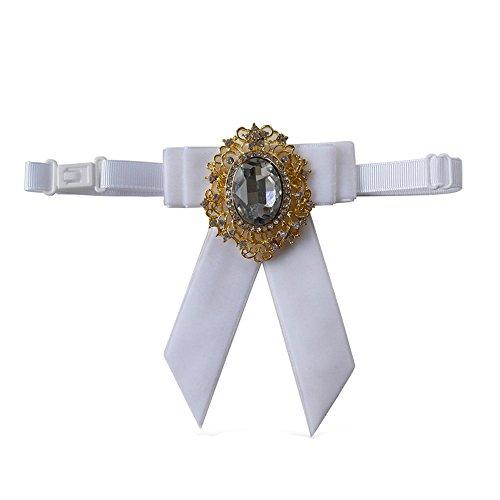 Haut Luxe Noeud Papillon Avec De Gros Pendentif En Diamant Club Velours Elanc EnseHomme Auger