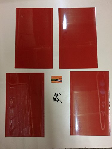 Motorsportandaccessories Rally - Guardabarros (PVC, 500 x 300 mm, 3 mm), Color Rojo