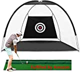 23GUANYI Golf Practice Net for Garden,2M Foldable Golf Net Practise Driving Hitting Nets,Indoor/Outdoor Golf...