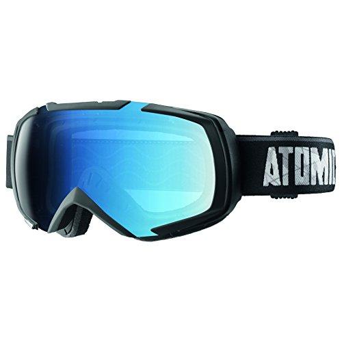 Atomic, AN5105282, Unisexe Masque de Ski, Tous Temps, Écran Bleu Photochromique (interchangeable), Taille M, Monture Live Fit, REVEL PHOTOCHROMIC, Noir