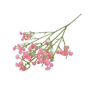 Silk Flower Arrangements F-pump 90Heads 52Cm Babies Breath Artificial Flowers Plastic Gypsophila DIY Floral Bouquets Arrangement for Wedding Home Decoration-Pink-1Bunch