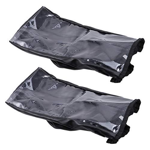Exceart 2 Stuks Elektrische Rolstoel Joystick Hoes Waterdichte Elektrische Rolstoel Joystick Hoes Armleuning Kussen Beschermhoes Voor Elektrische Rolstoel Rolstoel Zwart