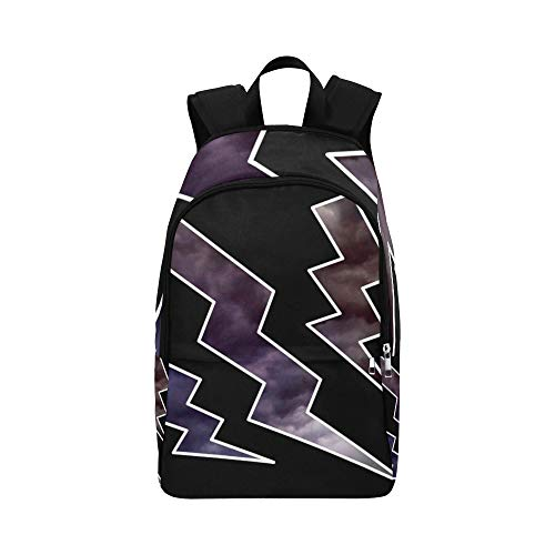 AIKENING Flash Storm Clouds Abstract Casual Daypack Travel Bag College School Backpack for Mens and Women