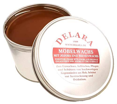 DELARA Cera para Muebles yoyoba y Cera de Abeja. Color: marrón - Made in Germany