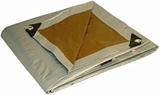 16x20 Multi-Purpose Silver/Brown Heavy Duty DRY TOP Poly Tarp (16'x20')