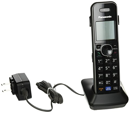Panasonic Cordless Phone Handset Accessory Compatible with KX-TG6840 and KX-TG7870 Series Cordless Phone Systems - KX-TGA680S (Black),Silver