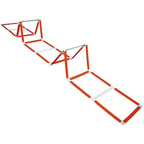 XBSD Voetbal Training Equipment, Vaste behendigheid Ladder, Basketbal Stap Training Tabs, Hurdle Rack, met Draagtas, 5 Meter 11 Knopen