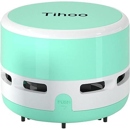 Tihoo デスクトップ掃除機 デスクトップ コンピュータキーボード 家具の表面 車の座布団 ミニ掃除機 (緑)