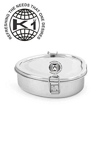 King International Stainless Steel Heart Shape Lunch Box (16x16x5 cm)