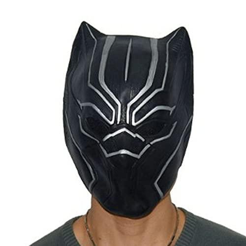 Xyh723 Casco De Pantera Negra Casco De Carnaval Halloween para Niños Máscara De Superhéroe para Adultos Máscara De Cara Completa Unisex Cosplay, Black-One Size