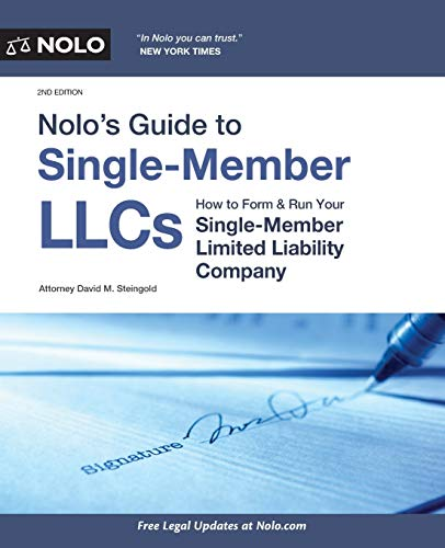 Real Estate Investing Books! - Nolo's Guide to Single-Member LLCs: How to Form & Run Your Single-Member Limited Liability Company