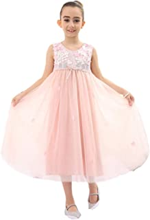 Bow Dream 子供ドレス パーティー エレガント ワンピース ロングドレス 女の子ドレス フォーマルドレス 結婚式 ピアノ 発表会 演奏会 プリンセスドレス