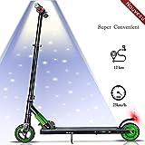 Magic Vida Monopattino Elettrico per Adulto Bambini Scooter pieghevol 7.5kg Motore Posteriore 250 W di Potenza velocità Massima 23 km/h(Verde)