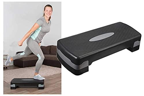 CLICLED Step Aerobica pedana Fitness Due Altezze casa Palestra Yoga Workout Regolabile