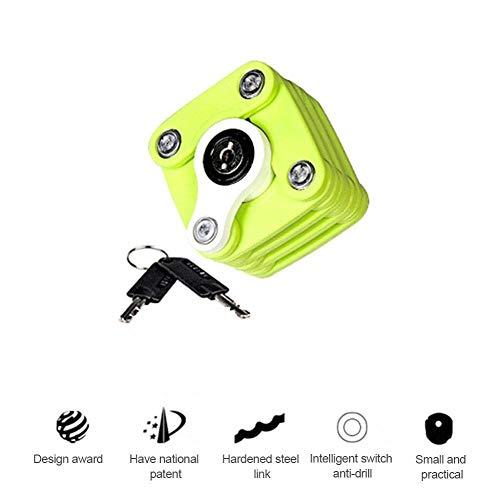 WYKDL Cube Fahrradschloss Hochleistungs-Diebstahlsicherungs-Fahrradkettenschloss, zusammenklappbar mit Montagehalterung Multifunktions-Hamburger-Schloss aus Aluminium mit Schlüsseln