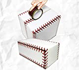 Baseball Softball Stitches Design Cellophane Adhesive Tape Decorative Craft Tape for DIY and Gift Wrapping Christmas Crafting,Shipping, Sealing (2 Roll)
