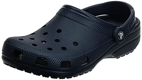 Crocs Unisex Men's and Women's Classic Clog, Navy, 9 US